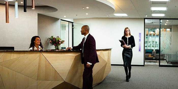 Future space offerings - reception area